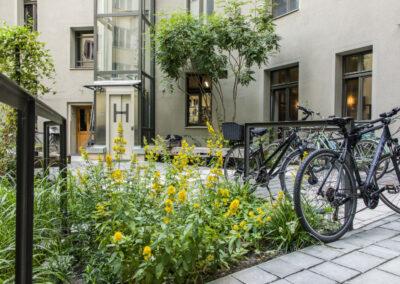 Innenhof der Brilliant Apartments