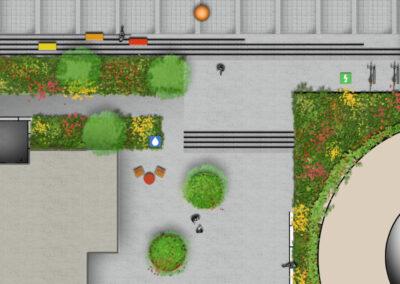 Plandetail westl.Durchgangsbereich