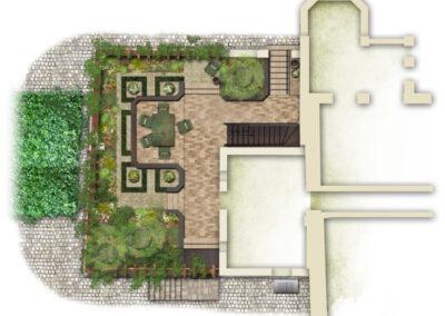 Romantische Ruine, Entwurf 1