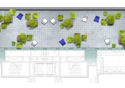 Green office in urban space